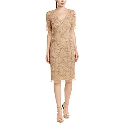 Adrianna Papell Women's Beaded Sheath Dress at Amazon Women's Clothing store