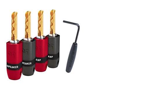 AudioQuest Speaker Wire Terminations (4-Pack) Red/Black 68-091-55