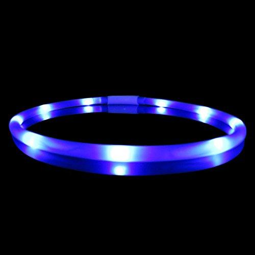 ZREAL USB LED Mascota Perro Luminoso Collar de Silicona ...