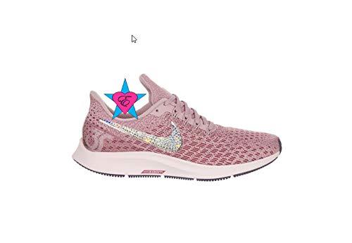 Amazon.com  Women Bling Rhinestone Women Shoes Pink Nike Air Zoom Pegasus  35  Handmade a3169a1d4