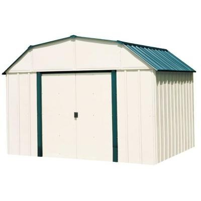Sheridan 10 ft. x 8 ft. Vinyl-Coated Steel Storage Shed with Floor Kit (Shed Coated Vinyl)