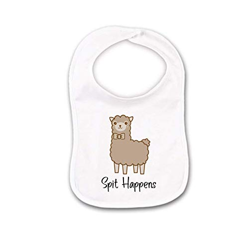 Spit Happens Llama Baby Bib or Burp Cloth For Funny Farm Animals