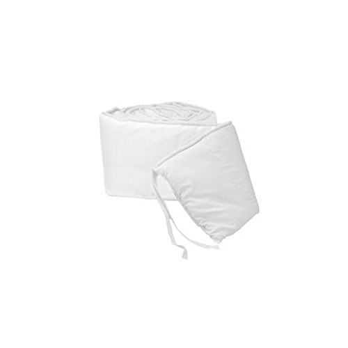 Babydoll Tailored Baby Cradle Bumpers, White, 15' x 33'