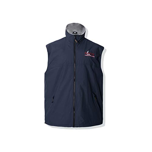 Windproof Waterproof Vest - Navis Marine Men's Crew Sailing Vest Fleece Lined Waterproof Windproof Breathable (Navy, Medium)