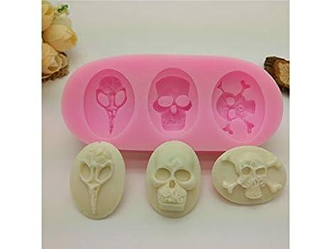 Molde de la galleta Halloween cráneo para Hornear moldes de Silicona Fondant Cake Mold Cake Decorating