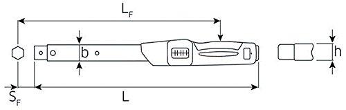 Stahlwille mechanischer Drehmomentschl/üssel 40-200 Nm Grundger/ät mit Aufnahme f/ür Einsteckwerkzeuge Gr/ö/ße 20 730N//20