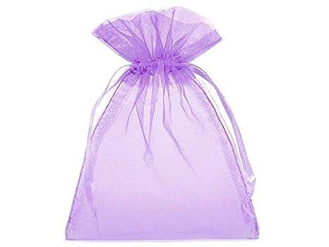 10 bolsitas de organza, bolsas de organza, tamaño 40 x 30 cm, el envoltorio ideal para regalos, elemento decorativo (lila)