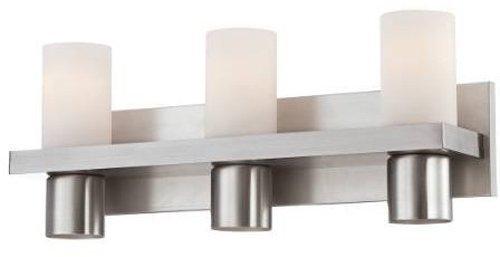 Eurofase 23278-028 Pillar 3-Light Bath Bar Bathroom Light Bulb, Brushed Nickel by Eurofase by Eurofase