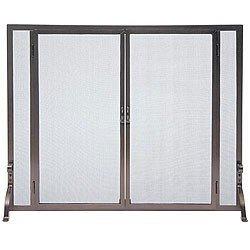 Pilgrim 18468 Flat Screen with Full Height Doors in Burnished Bronze ()