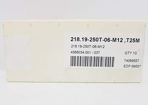 Seco 218.19-250T-06-M12 Hartmetall-Einsätze, T25M, versiegelt, 10 Stück