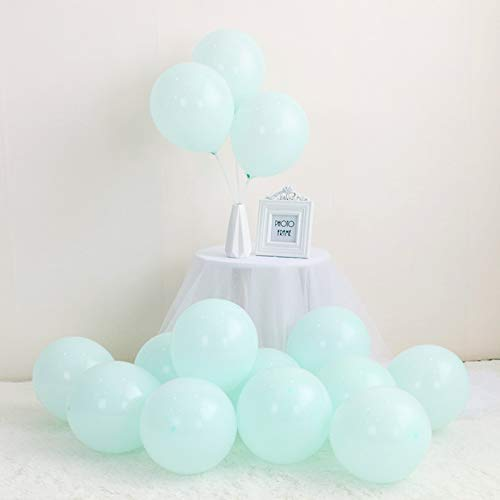 LOKMAN 100Pcs MacaronTiffany Blue Party Balloons for Wedding, Baby Shower, Girls Birthday Party Decoration. 10 Inch(Tiffany Blue)]()