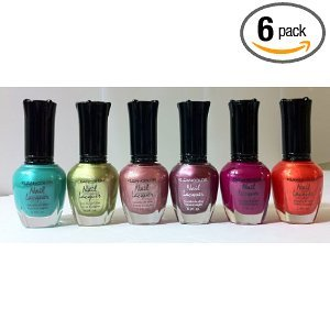 Kleancolor Nail Lacquers - Set 6 - Rose Heart (Set Tabletop Roses)