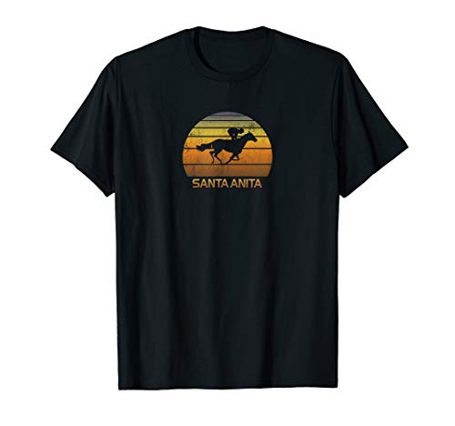 Vintage Shirt Santa Anita California Horse Racing Fan Park
