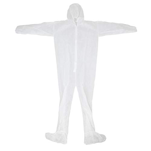 (West Chester 3509 2XL STD WGT SBP Coverall Hood & Boot, 2XL, White (Pack of 25))