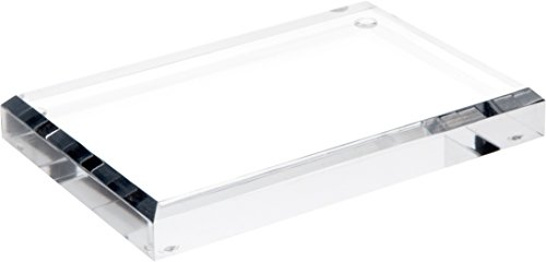 Acrylic Base - Plymor Brand Clear Acrylic Rectangular Beveled Display Base, 0.75