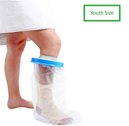 (Water Proof Youth Leg Cast Cover for Shower by TKWC Inc - #5735 - Watertight Foot Protector - Youth Size)