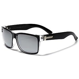 Square Retro 80's Sunglasses BLACK