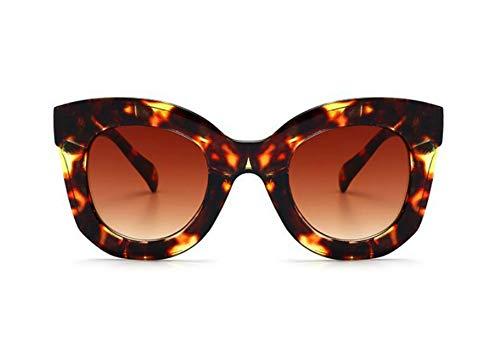 Butterfly Sunglasses Semi Cat Eye Glasses Plastic Frame Clear Gradient Lenses (Tortoiseshell Brown, ()