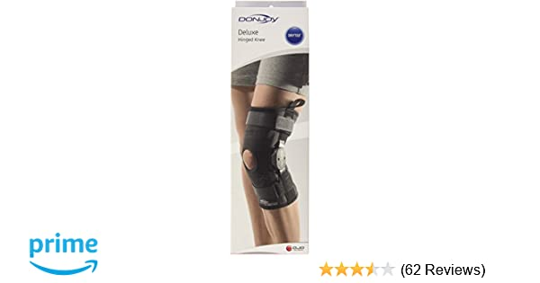 89772a4aa7 Amazon.com: DonJoy Deluxe Hinged Knee Brace, Drytex Sleeve, Open Popliteal,  X-Large: Health & Personal Care