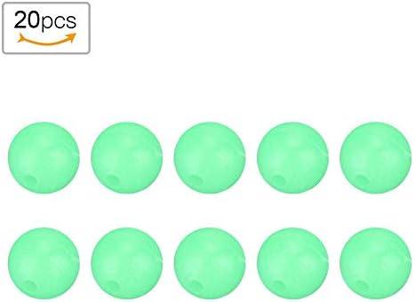 XQxiqi689sy 100 St/ück leuchtende Perlen zum Angeln Space Bohnen rund Schwimmb/älle Stopper Zubeh/ör