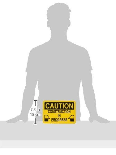 Brady 126870 Construction Site Sign Black on Yellow 7 Height LegendConstruction in Progress 10 Width