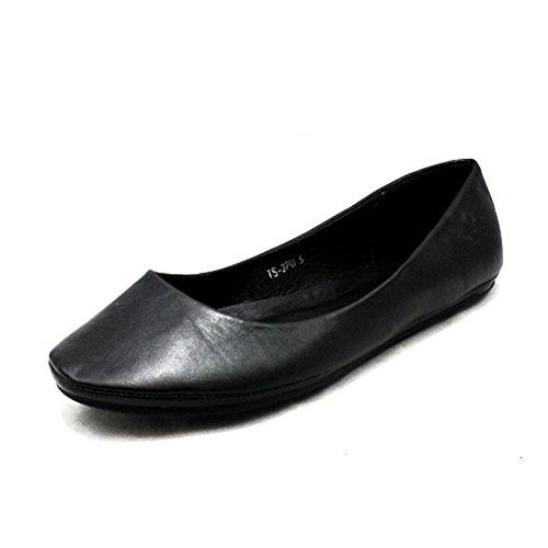 Tavallinen Pumput Kengät Ladies Musta Matalat Matta 48qawOaS