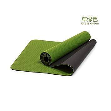 YOOMAT - Esterilla de Yoga Antideslizante de 6 mm de TPE ...