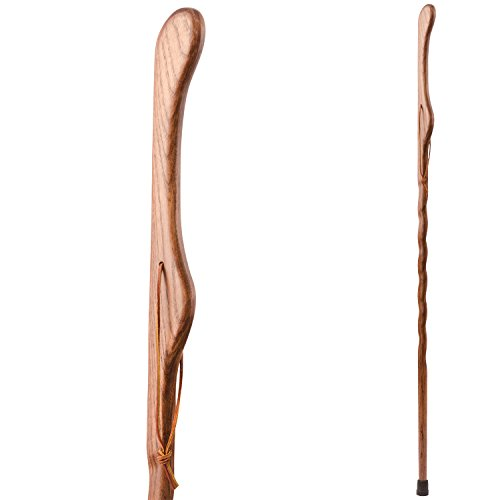 UPC 840008010379, Brazos Hitchhiker Twisted Oak Handcrafted Wood Walking Stick, Red, 48 Inch