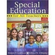 Special Education for All Teachers 5th (fifth) Edition by COLARUSSO RONALD P, O'ROURKE COLLEEN M published by Kendall Hunt Publishing (2013)