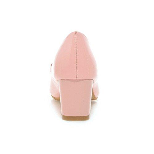 Adee Ladies electroplate talón pantalones de poliuretano Sandalias Rosa - rosa