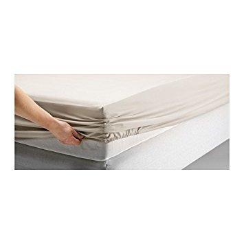 Ikea Dvala Beige Fitted Sheet 100% Cotton, Queen (Dvala Sheet Set Queen)