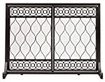 Plow & Hearth East Bay Fireplace Hearth Screen with Double Doors,
