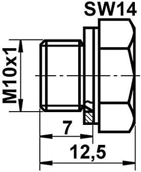 Fermeture Vis principal CYLINDRE DE FREIN pour freinage UAT 03.3517-0101.2