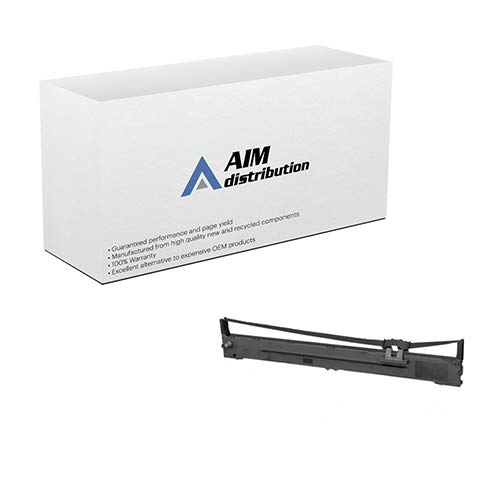 AIM Compatible Replacement for Porelon 12901-US Black Printer Ribbons (6/PK) - Compatible to S015335 - Generic