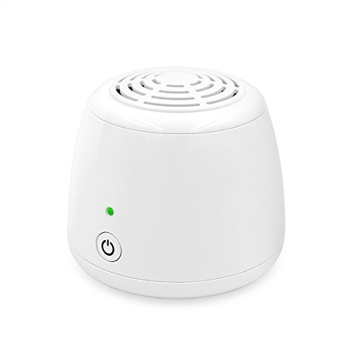 WSTA Portable Ozone Generator Purifier,Air Ionizer Cleaner,Ionic Air Purifier,Refrigerator,Shoe Cabinet,Small Room,Closet,Pet Area Odor Eliminator(White) by WSTA