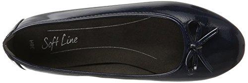 Softline22163 - Bailarinas Mujer Azul (Navy Patent)
