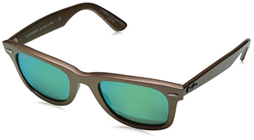 Ray-Ban WAYFARER - METALLIC PINK Frame GREY MIRROR GREEN Lenses 50mm - Pink Ray Ban Frames