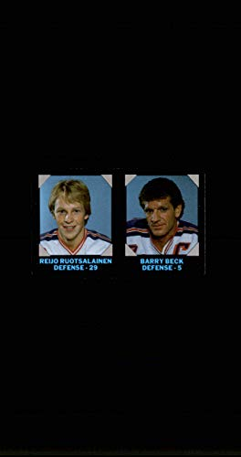 1985-86 7-Eleven Credit Cards #13 Reijo Ruotsalainen Barry Beck NEW YORK RANGERS Vintage from SuperStar Sports