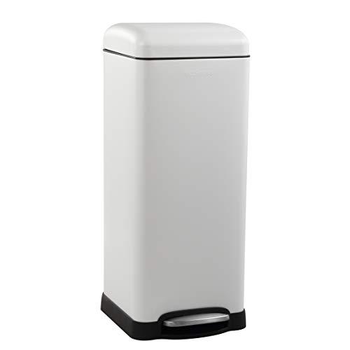 happimess HPM1007A Betty Retro 8-Gallon Trash Can, White (Retro Kitchen Garbage Can)