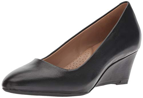 Aerosoles Women's Inner Circle Pump, black leather, 9 W US