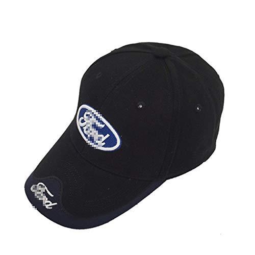 Ldntly Baseball Cap Adjustable Men Women Car Logo Black Baseball Cap Adjustable Hat - Cap Ford