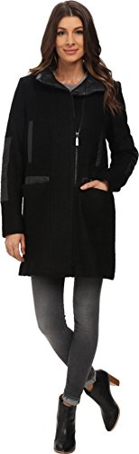Vince Camuto Women's Stand Collar Wool J8271 Black Sweater