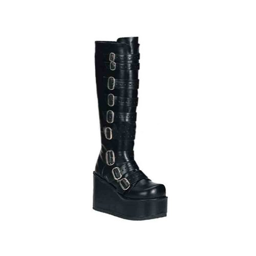 Demonia By Pleaser Womens Concord-108 Platform Wedge Boot Black Pu