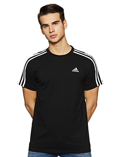 Adidas Men's Plain Regular Fit T-Shirt Black