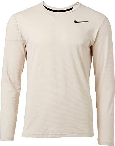 NIKE Men's Dry Static Long Sleeve Training Top (Desert Sand/Black, XX-Large) (Nike Long Sleeve T Shirt Men)