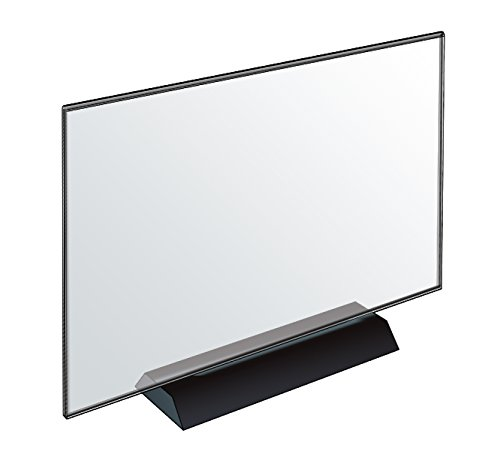 Azar Displays 108804 Acrylic Frame Sign Holder On Black Base, 11