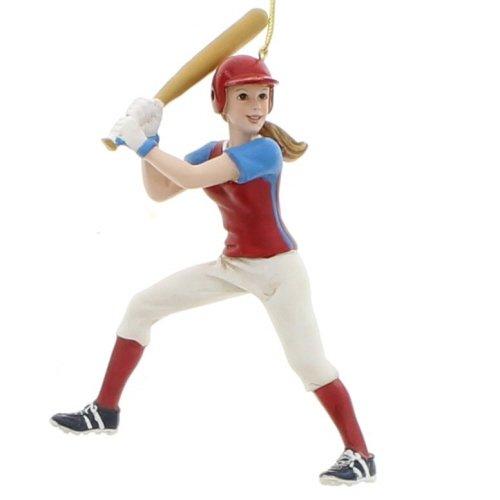 Kurt Adler Softball Girl Figure Christmas Ornament