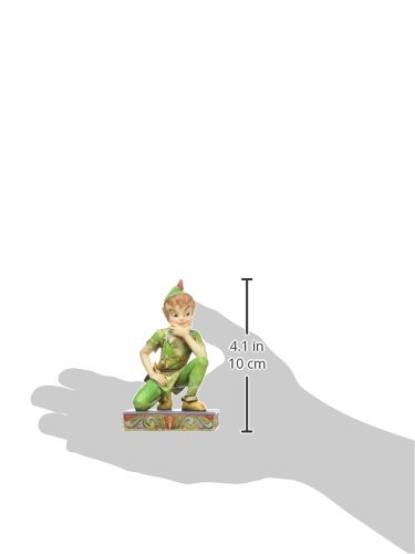 """Disney Traditions by Jim Shore Peter Pan Personality Pose Stone Resin Figurine, 4"""""""