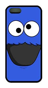 Cookie Monster Iphone 5 5S Rubber Shell with Black Edges Cover Case by Lilyshouse