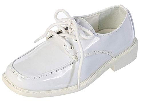 Youth White Patent Footwear - TipTop Patent Dress Oxford Shoes White 01 13 M US Little Kid